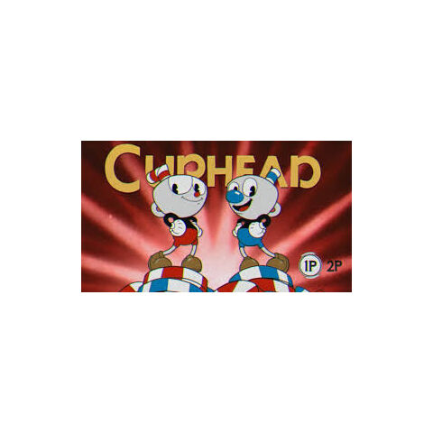 Cuphead and Mugman when starting the game