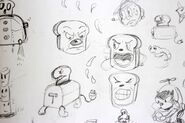 Early design of a cut toaster boss