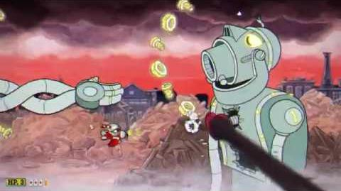 Cuphead - Dr. Khal's Robot - Knockout during Phase 1 tutorial