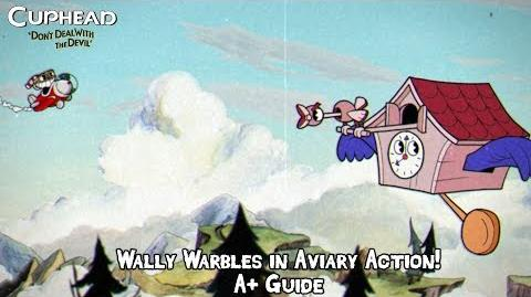 Cuphead - Wally Warbles in Aviary Action! Boss Fight (A+ Guide - Perfect Run - Regular)