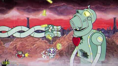 Cuphead Dr. Kahl's Robot Stage 1 K.O. Glitch