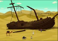 Full shipwreck sand