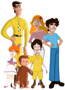 Curious George 4 Real Family photo