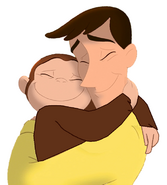 Curious George & Ted (Friends 4-Ever)
