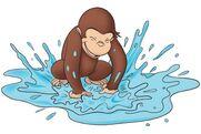 George Splashing water
