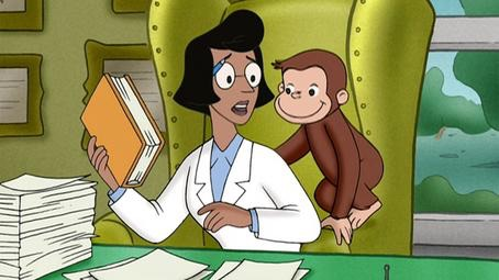File:Professor Wiseman with curious george .jpg