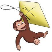 George flying Kite