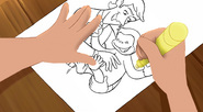 Curious George 4- Troy's hand drawing scene