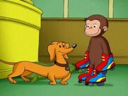 Curious George with Hundley