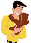 Curious George 4- Ted hugging George 1