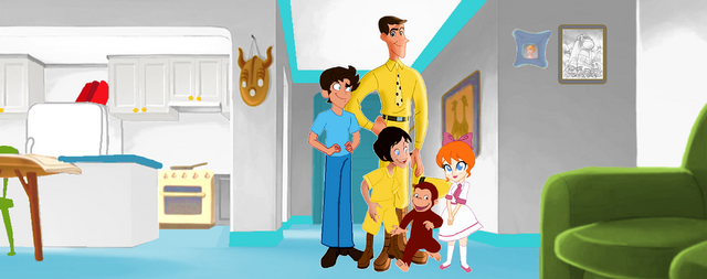 File:Curious George 4- Ted's 1st Adopted Family.png