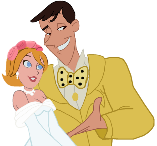 File:Curious George- Bridal Maggie Dunlop and Groom Ted Shackleford.png