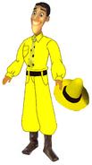 Custom Ted Shackleford (Curious George) Hasbro doll