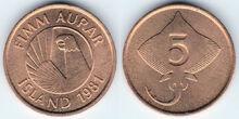 Iceland 5 aurar 1981 2