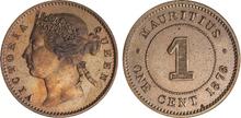 Mauritius 1 cent 1878