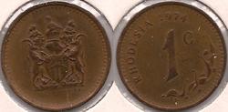 Rhodesia cent 1974