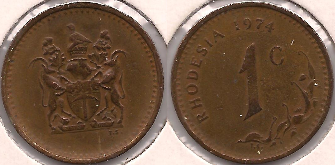 Rhodesian 1 Cent Coin