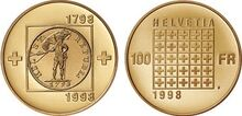 Swiss commemorative coin 1998a