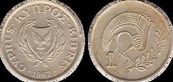 Cyprus cent 1987