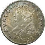 1824 half dollar obv