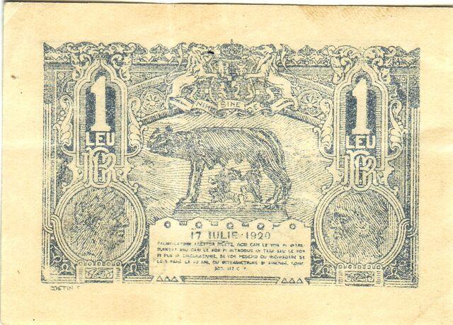 File:1 leu 1920 revers.jpg