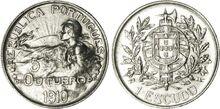 1 Escudo commémorant la naissance de la République promue le 5 octobre, escudo frappé en 1914