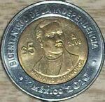 Mariano Matamoros 5 peso coin 2008