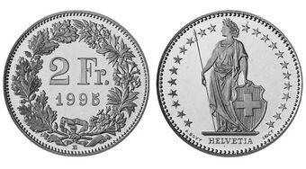 Swiss 2 Franc Coin Currency Wiki Fandom