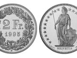 Swiss 2 franc coin