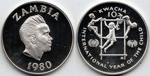Zambia 10 kwacha 1980 IYC