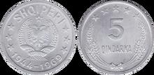 Albania 5 qindarka 1969