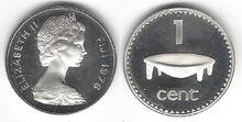 Fiji 1 cent 1976 silver