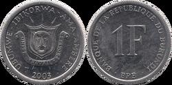 Burundi franc 2003PM