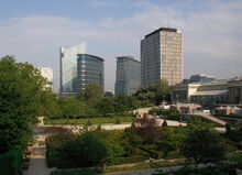 View over the Botanical Garden in Brussels