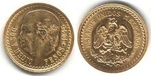 Mexican 2½ pesos 1945