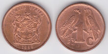 South Africa 1 cent 1999