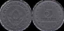 Yugoslavia 5 dinara 1945