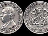 Sealand 100 dollar coin