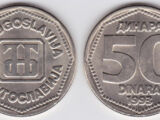 Yugoslav 50 dinar coin