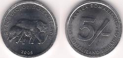 Somaliland 5 shillings 2005