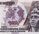 Mexican 50,000 peso banknote