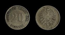 20-Pfennig-Coin-Deutsches-Reich-1874-A-JR-4343-4344