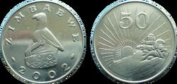 Zimbabwe 50 cents