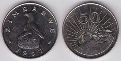 Zimbabwe 50 cents 1997