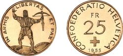 Switzerland25fr1955
