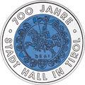 2003 Austria 25 Euro 700 Years City of Hall in Tyrol back.jpg