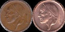 Belgium 50 cent miner sizes