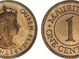 Mauritian 1 cent coin