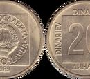 Yugoslav 20 dinar coin