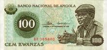 Angola 100 kwanzas 1976 obv